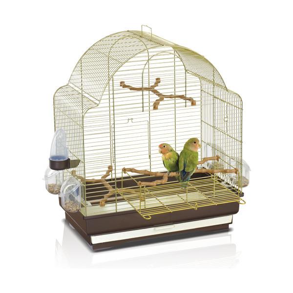Imac АЙМАК ЭЛИСА клетка для средних попугаев, пластик, латунь