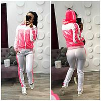Женский стильный спортивный костюм в расцветках (14-0025)