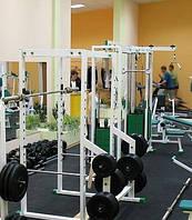Спортивна плитка для тренажерних залів 500х500х50 мм, фото 1