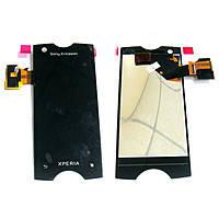 Дисплей для Sony Ericsson ST18i Xperia Ray + touchscreen. чрный