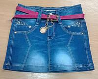 Юбка летняя джинсовая для девочки.