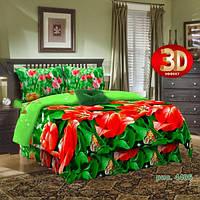 Красные тюльпаны 3Д постельное белье (Красные тюльпаны 3Д)