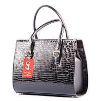 Классическая прямоугольная сумочка черная v1343damla