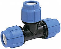 Тройник быстрозажимной компрессионный 20мм х 20мм х 20мм (УКР)