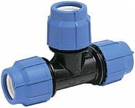 Тройник быстрозажимной компрессионный 32мм х 32мм х 32мм (УКР)