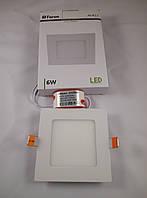 Встраиваемый светодиодный светильник Feron AL511 6w квадрат