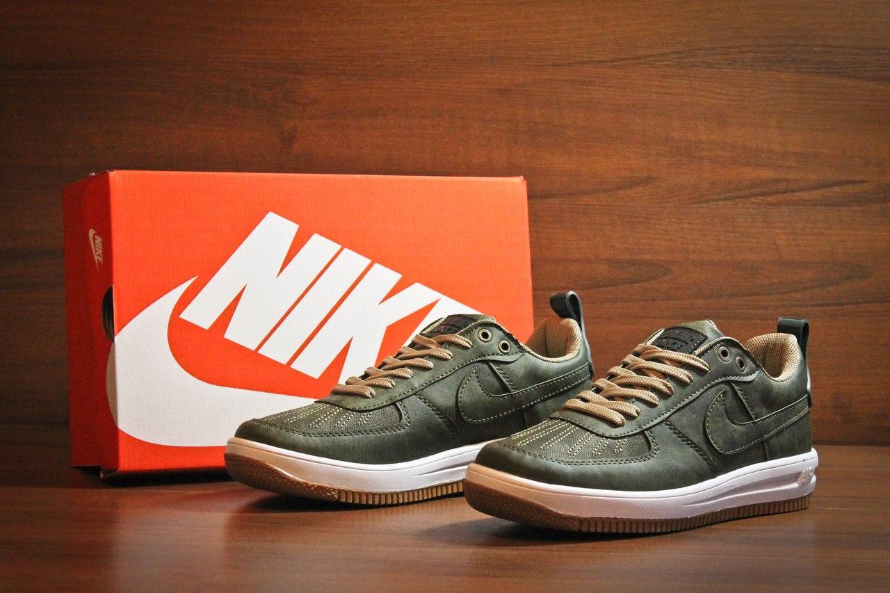 Мужские кроссовки Nike Lunar Force Low All Green топ реплика