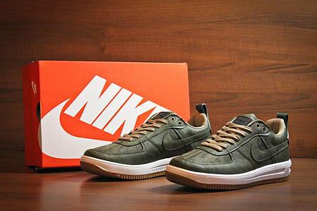 Мужские кроссовки Nike Lunar Force Low All Green топ реплика, фото 2