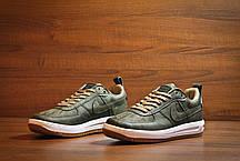 Мужские кроссовки Nike Lunar Force Low All Green топ реплика, фото 3