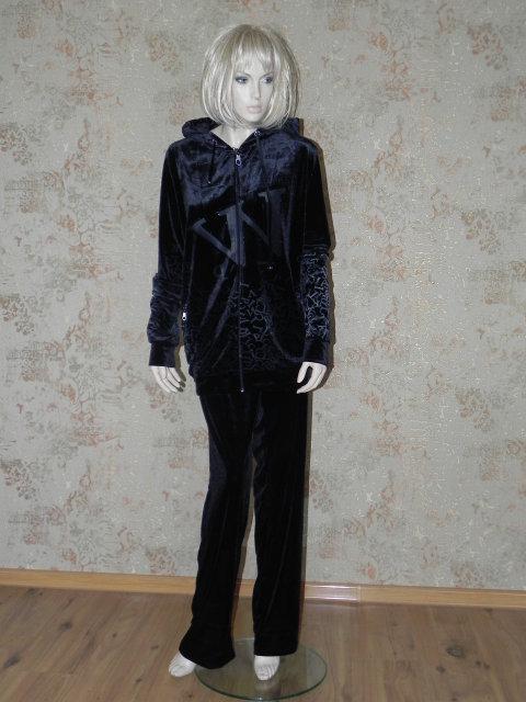 6710a93242cb Купить Женский спортивный костюм с карманами и капюшоном 4603 илд ...