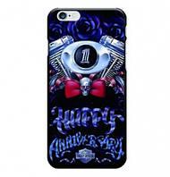 Чехол силиконовый Harley Davidson rose для Iphone 6 6s