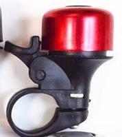 Велозвонок механический ударный красный