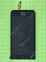 Дисплей Asus Zenfone Go ZB452KG с сенсором Оригинал элем. Черный