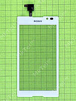 Сенсорный экран Sony Xperia C C2305 S39h Оригинал Б/У Белый