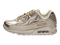05-19 Золотистые женские кроссовки спортивные Rapter модель B733-37  40