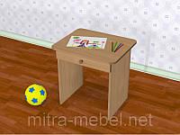 Стол детский одноместный с ящиком (550*450*h)