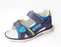Босоножки, сандалии кожаные, ортопедические для мальчика р.26-31 ТM Clibee (Польша)