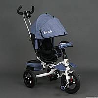 Трехколесный детский велосипед Best Trike 6595 (2017) (надувные колеса & фара & поворотное сидение)