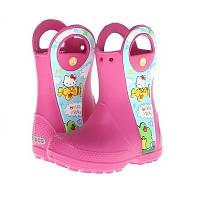 Сапоги Crocs Kids Handle It Hello Kitty Plane Boot / детские резиновые дождевики с ручками Хеллоу Китти