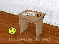 Стол детский одноместный с полкой (550*450*h)