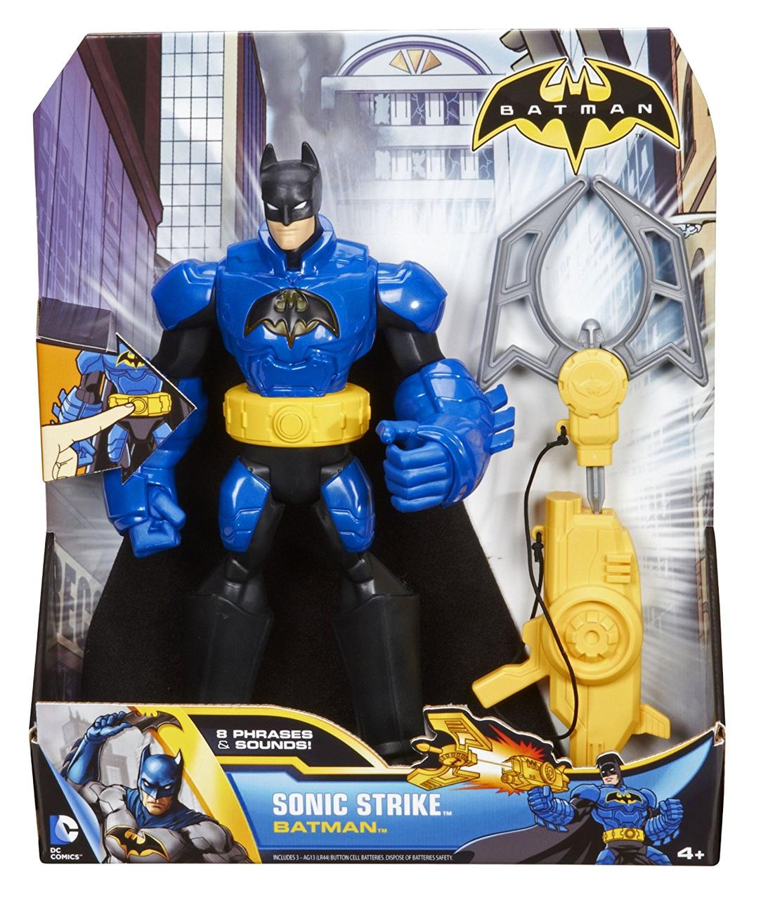 """Электронная игрушка """"Говорящий"""" Бэтмен с оружием - Sonic Stirke Batman, Mattel"""