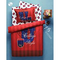 Постельное белье Karaca Home College красное ранфорс подростковое