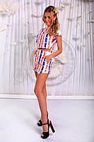Женский летний костюм с шортами в расцветках (07-282)
