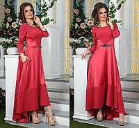 Шикарное вечернее платье макси асимметрия с камнями (3 цвета )