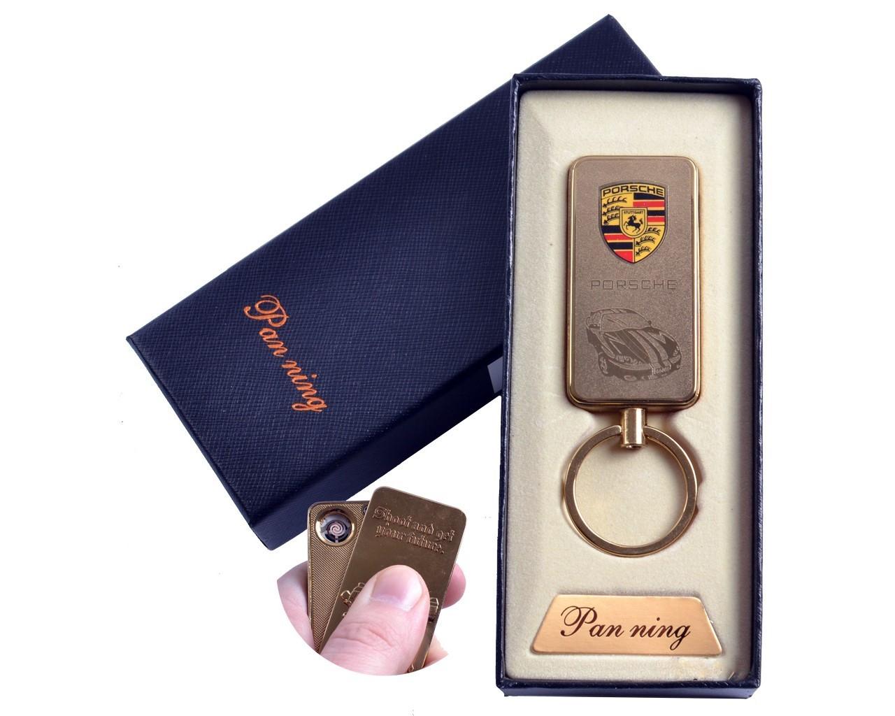 """Спиральная USB зажигалка-брелок """"Porsche"""" №4811-4, брелок и зажигалка, два в одном, полезный девайс"""