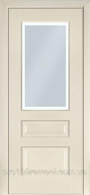 Двери Terminus Classic модель №102 ПГ/ПО (ясень белый Эмаль, ясень Crema)
