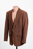 H&M пиджак вельветовый коричневый р 50 ПОГ 56 см