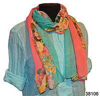 Весенний шифоновый шарф Кармен (код: 38106)