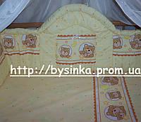 Детское постельное белье. Бортики высокие (40 см) и комплект постели в кроватку детскую