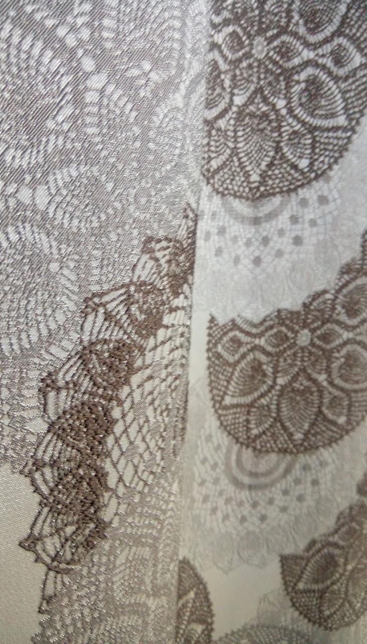 Шторная ткань с вышивкой