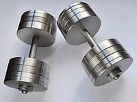 Гантели наборные, разборные две по 38 кг. (сталь без покрытия)