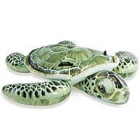 Плотик для купания Черепаха Intex 57555: винил, 2 ручки, 191х170 см, ремкомплект, 3+ лет