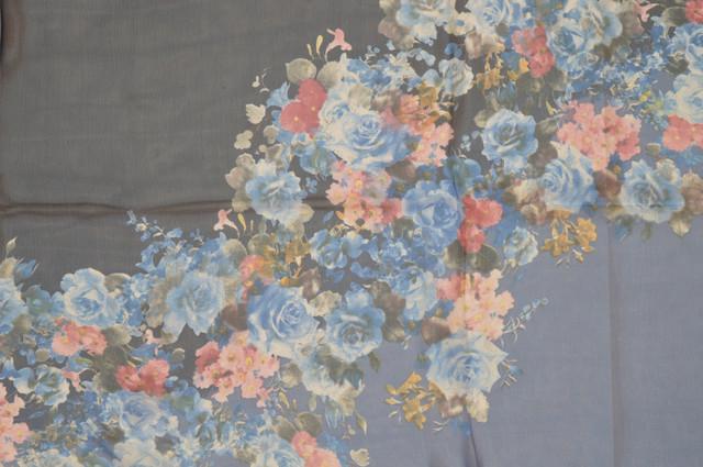 Женский синий модный шифоновый шарф Кармен 2