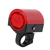 Громкий электрический вело звонок, красный цвет, фото 1