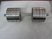 Гантели наборные, разборные две по 42 кг. (сталь без покрытия)
