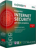 Kaspersky Internet Security 2014 2 ПК Box на 1 год