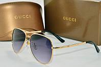 Солнцезащитные очки Gucci черные в золоте