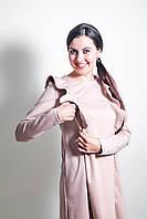 Платье с крылышками для беременных и кормящих мам бежевый, S