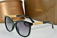 Солнцезащитные очки квадратные Gucci зеленые