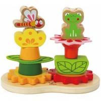 Деревянная игрушка Пирамидка Сад HAPE E0428