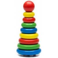 Деревянная игрушка Пирамидка из 9 деталей Томик 205