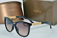 Солнцезащитные очки квадратные Gucci коричневые