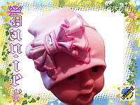 Детская осенняя шапка с бантом для девочек