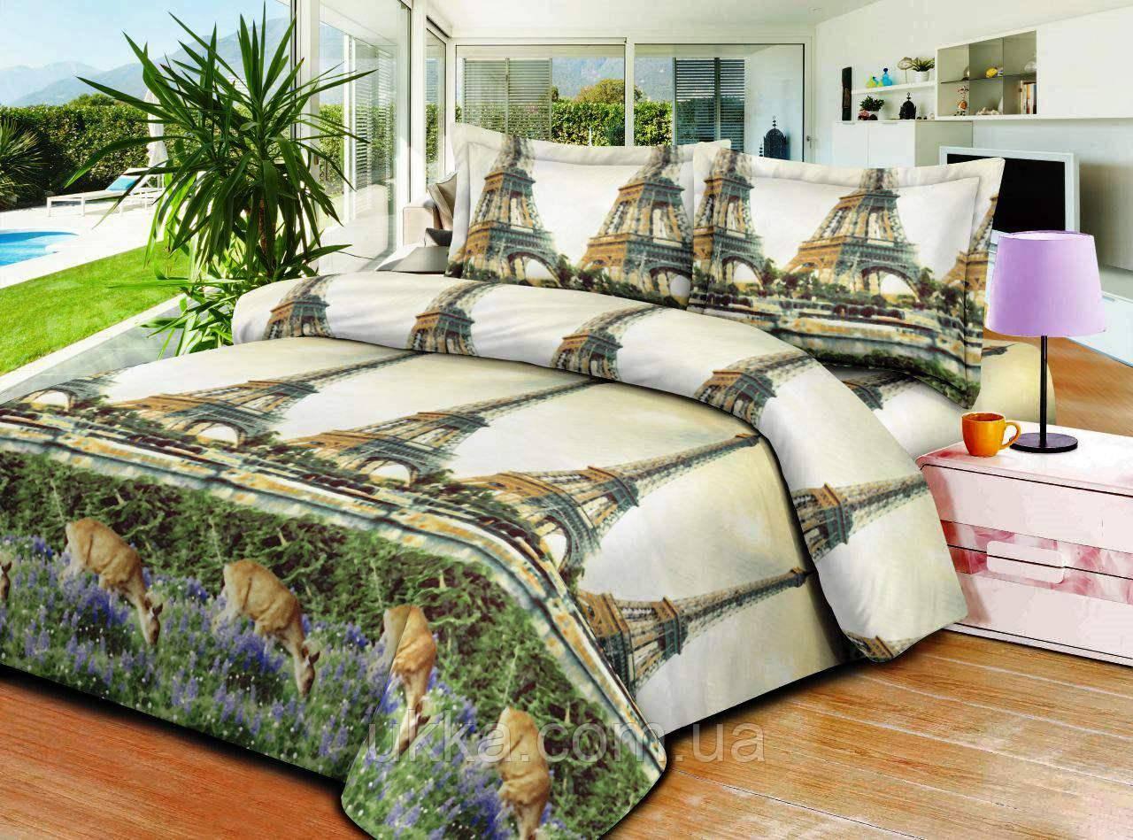 Двухспальное постельное белье 3D Микросатин Шанель