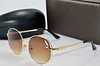 Солнцезащитные очки круглые Louis Vuiiton коричневые, фото 1