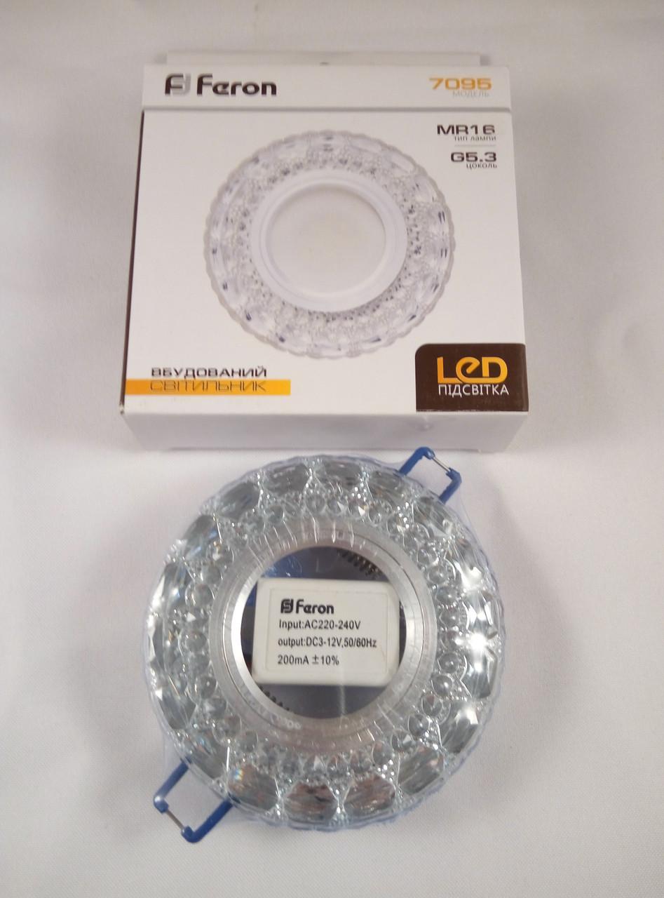 Точечный светильник Feron 7095 с LED подсветкой